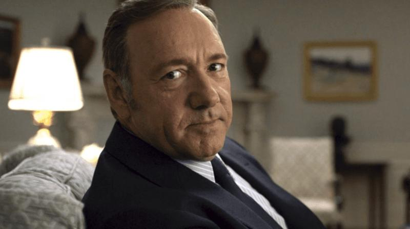 Kevin Spacey in a still from 'House of Cards.'