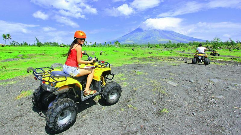 All-Terrain Vehicles are an exciting way to get up close to the Mount Mayon volcano