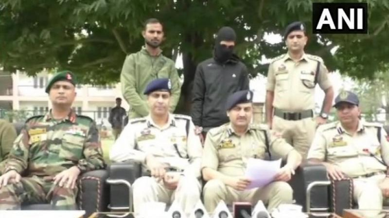 Speaking about the operation, Choudhary said, 'We built a checkpost and Baramulla police with the help of 52 Rashtriya Rifle (RR) and 53 battalion of the CRPF through which we were able to nab him.' (Photo: ANI)