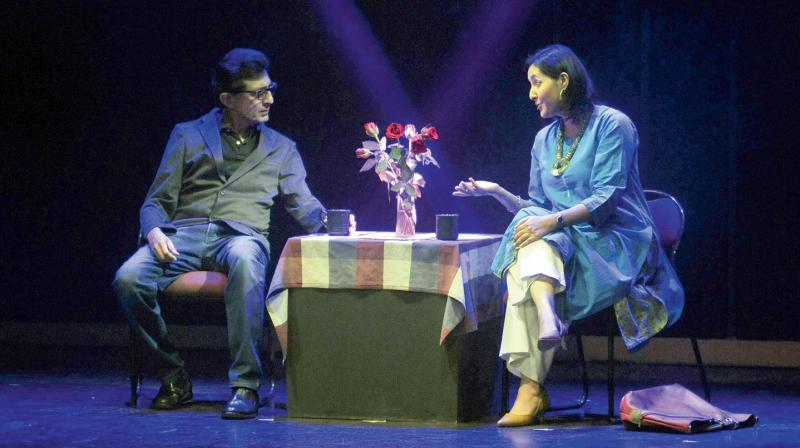 Charu Shankar and Sunit Tandon in Twenty Questions. (Photo: Pritam Bandyopadhyay)