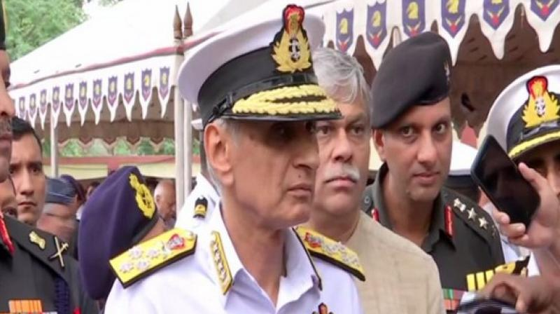 Singh said that the Navy is observing Chinese movement in the Indian Ocean Region (IOR). (Photo: ANI)