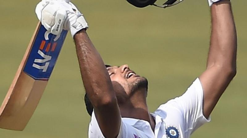 India opener Mayank Agarwal said long distance running coupled with marathon batting sessions gave him the strength and stamina to bat for long hours, which eventually turned into a phenomenal double hundred. (Photo:PTI)