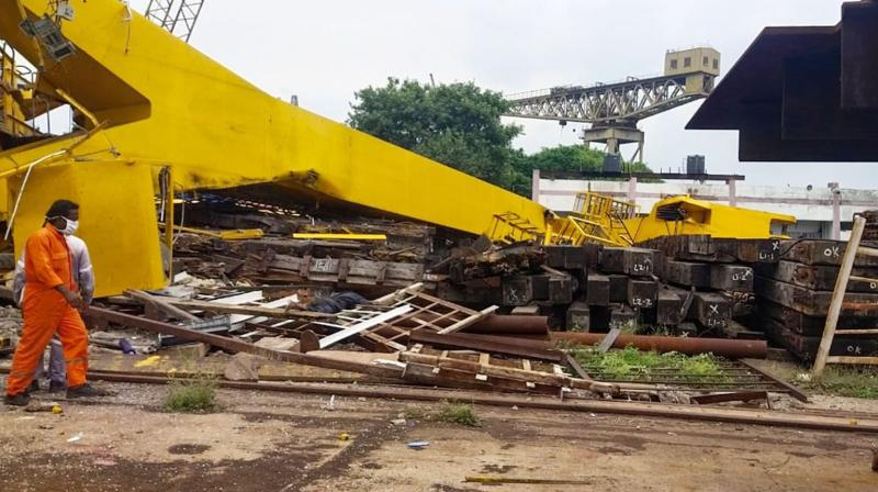 A scene from the accident site. (DC Photo: Murali Krishna)