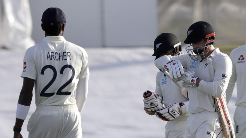 The manner of Kane Williamson's dismissal and a blow to the head of Henry Nicholls put the maiden Test wicket at Mount Maunganui under scrutiny with three days to play in the first Test between New Zealand and England on Friday. (Photo:AFP)