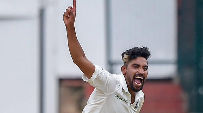 A file picture of Indian bowler, Mohammad Siraj (Image source: Shailendra Bhojak/PTI)