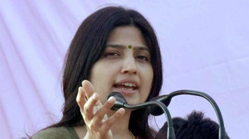 Samajwadi Party MP from Kannauj and wife of Chief Minister Akhilesh Yadav, Dimple Yadav. (Photo: PTI)