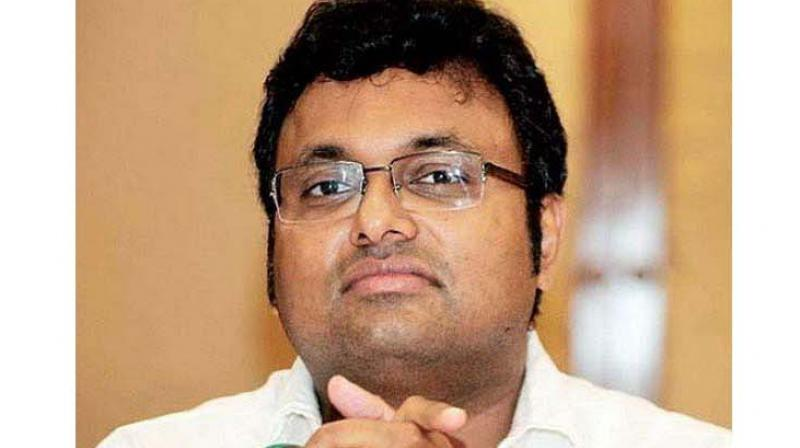 'Karti Chidambaram is yet to be arrested in ED case, he did not apply for bail, he had filed a petition in High Court challenging few provisions of PMLA. There is a stay on his arrest and once it is lifted, he would be arrested,' Solicitor General Tushar Mehta, representing the ED, told the Supreme Court. (Photo: File)