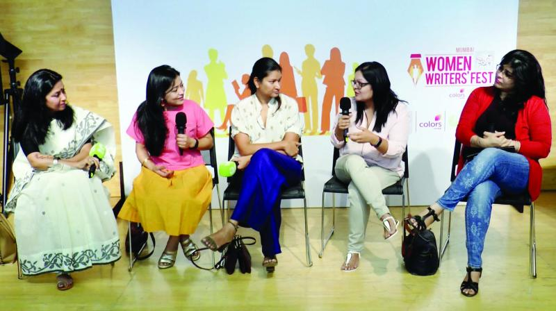 A panel discussion in motion from the last edition of SheThePeople's Women Writers' Fest