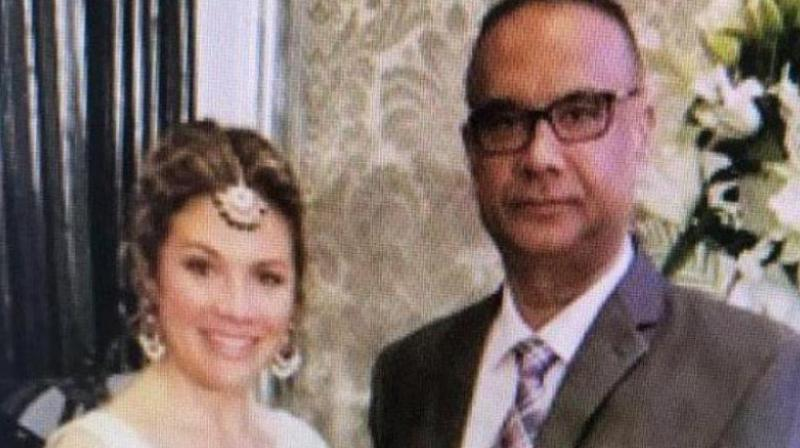 Jaspal Atwal, a convicted Khalistani terrorist, who was active in the banned International Sikh Youth Federation, posed with Canadian Prime Minister Justin Trudeau's wife Sophie Trudeau at an event in Mumbai on February 20. (Photo: ANI | Twitter)