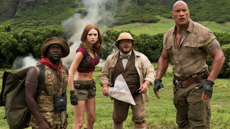 A still from 2017 'Jumanji: Welcome to the Jungle'.