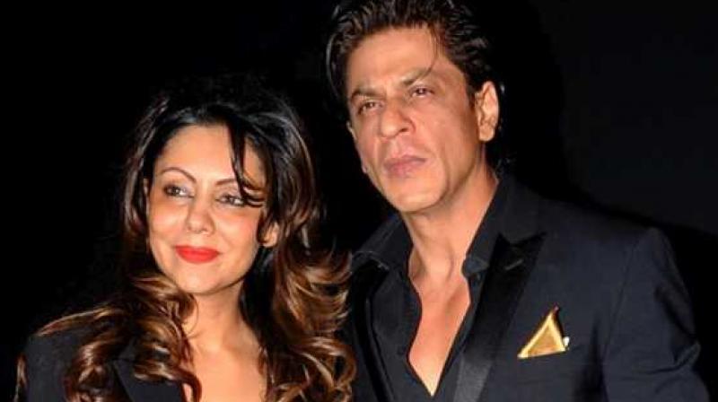 Shah Rukh Khan with wife Gauri Khan.