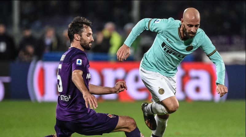Former Fiorentina midfielder Borja Valero fired Inter in front after eight minutes, but Vlahovic carried the ball from inside his own half in stoppage time before smashing in a powerful finish. (Photo:AP)