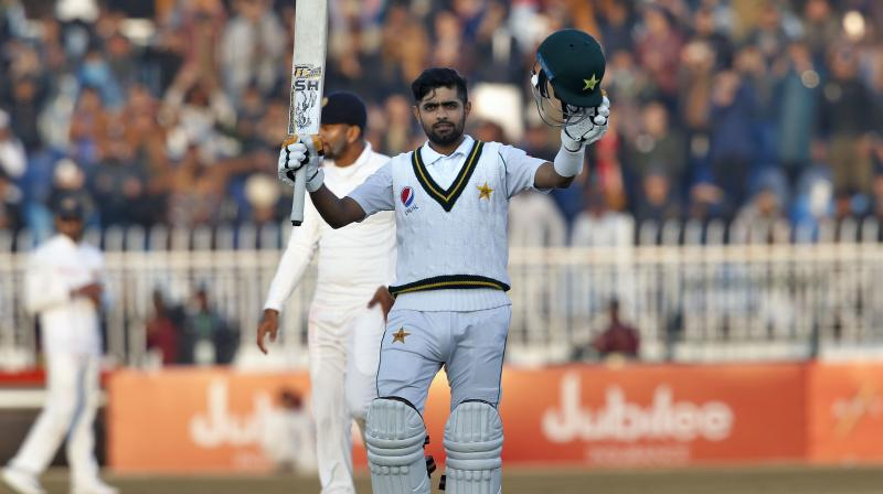 Abid Ali and Babar Azam each hit a century to light up the final day of Pakistan's first test at home in a decade against Sri Lanka as the weather-hit match at Rawalpindi ended in a drab draw on Sunday. (Photo:AP)