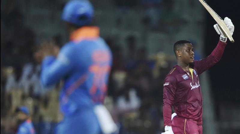 Swashbuckling West Indies batsman Shimron Hetmyer described his match-winning 139 against India in the first one-dayer here as the best knock of his career but said he would have been happier had he finished off the game. (Photo:PTI)