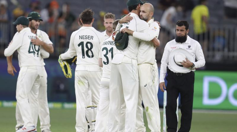 Skipper Tim Paine believes Australia is climbing back towards the top of Test cricket after a third successive powerhouse victory at Perth Stadium on Sunday. (Photo:AP)