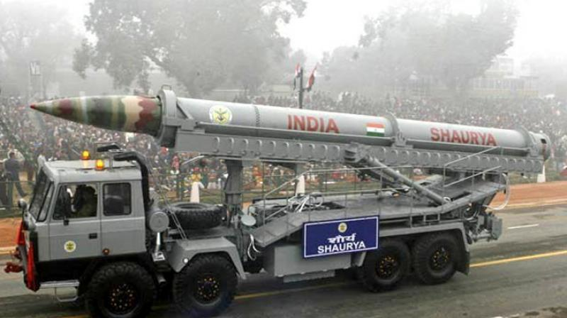 File photograph of Shaurya Missile displayed in Republic Day parade in Delhi. — DC photo