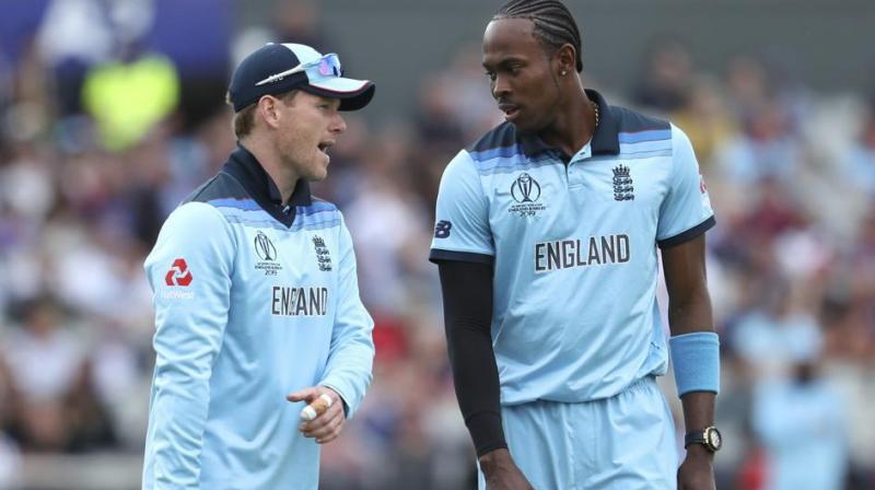 England captain Eoin Morgan on Monday said Jofra Archer has proved to be an 'X-factor' in his short career so far but insisted that the best of the tearaway pacer is yet to come. (Photo:AP)