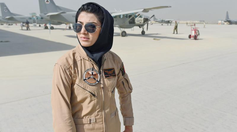 Captain Niloofar Rahmani, 25, has requested asylum in U.S. after allegedly receiving death threats. (Photo: AFP)