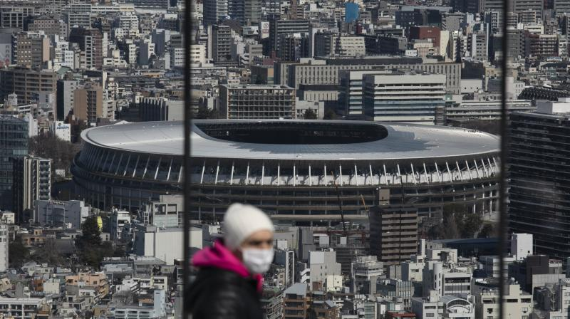 New National Stadium in Tokyo which would host the opening and closing ceremonies. AFP Photo