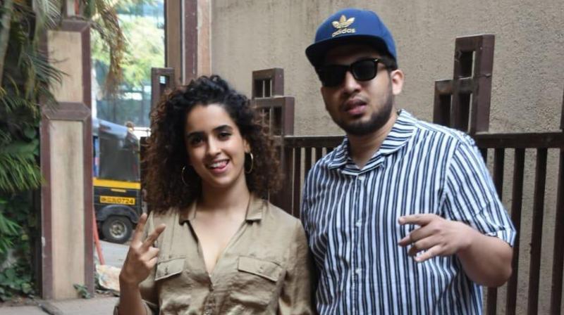 Sanya Malhotra with rapper Naezy.