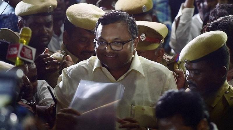 The CBI FIR, lodged on May 15, had alleged irregularities in Foreign Investment Promotion Board (FIPB) clearance to INX Media for receiving overseas funds to the tune of Rs 305 crore in 2007 when Karti's father was the Union finance minister. (Photo: PTI/File)