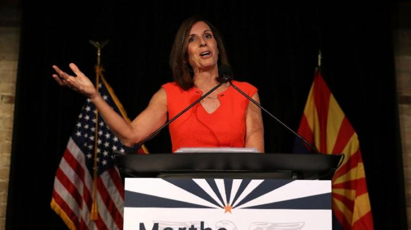 McSally, 52, an Arizona Republican who served two terms in the US House of Representatives, was appointed in December by the state's governor to take over the Senate seat once held by the late John McCain. (Photo: AFP)
