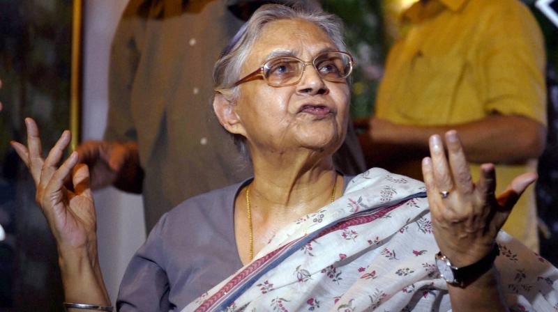 Former Delhi chief minister Sheila Dikshit. (Photo: PTI/File)