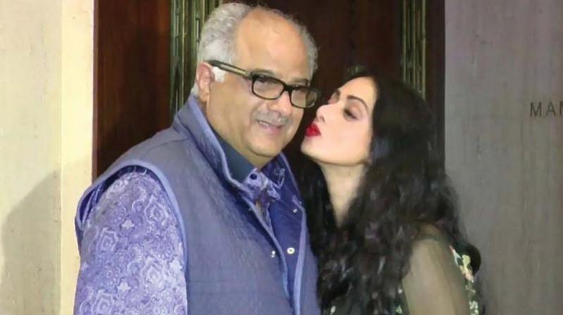 Sridevi with her husband Boney Kapoor.