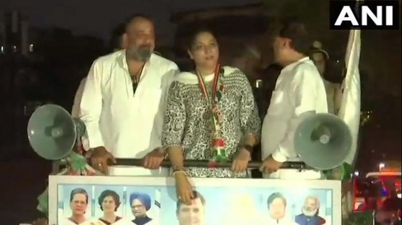 Priya thanked the Congress party workers for their support. (Photo: ANI)