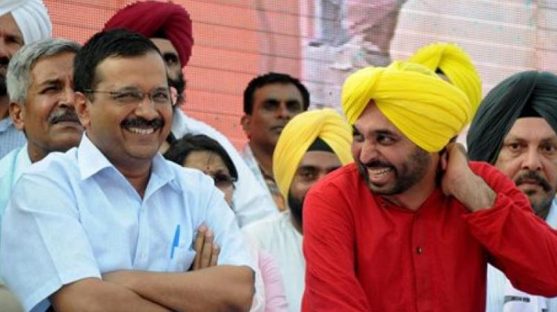 Mann, who is often criticised by political opponents for 'excessive drinking,' earned high praise from party supremo Arvind Kejriwal for giving up alcohol. (Photo: PTI)