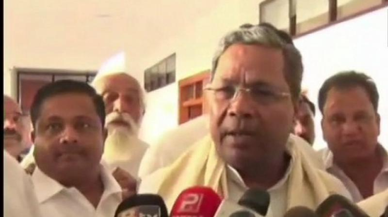 The meeting was convened by the party to assess whether its flock was intact amid speculation that some of the party MLAs had switched over to the BJP. (Photo :ANI)