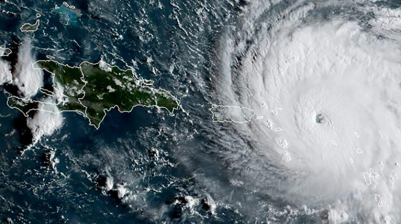 This satellite image obtained from the National Oceanic and Atmospheric Administration (NOAA) (Photo: AP)