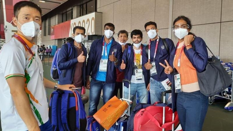 The Indian Badminton contigent left for the 2021 Tokyo Olympics on July 18, 2021. (Photo: @Media_SAI)