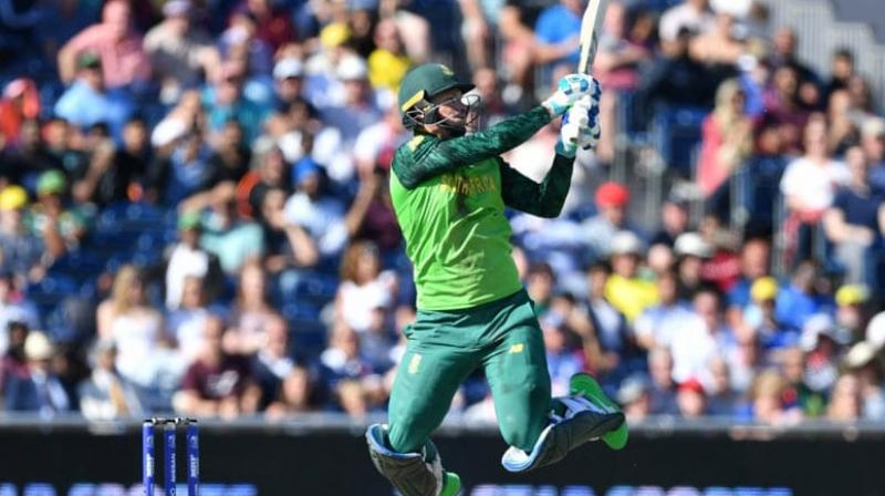 Vice-captain Rassie van der Dussen on Wednesday said that a new look South African team will be relying a lot on IPL regulars Quinton de Kock and David Miller to put up a competitive performance against formidable India in the T20 series beginning here on Sunday. (Photo:AFP)