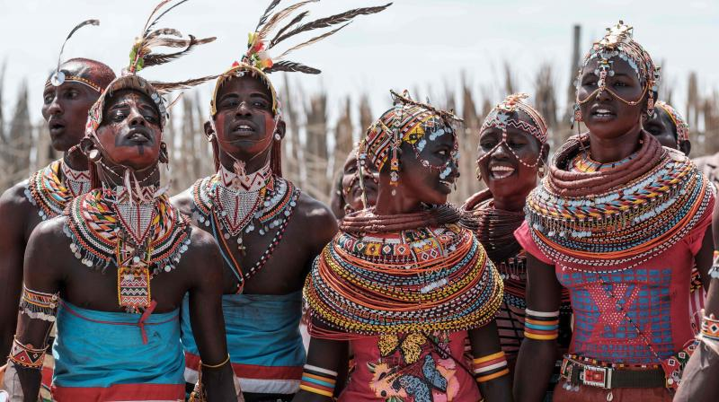 The annual 3-day festival features the cultural traditions of 14 ethnic tribes in Marsabit county to promote tourism and build better relationship between tribes. (Photo: AFP)