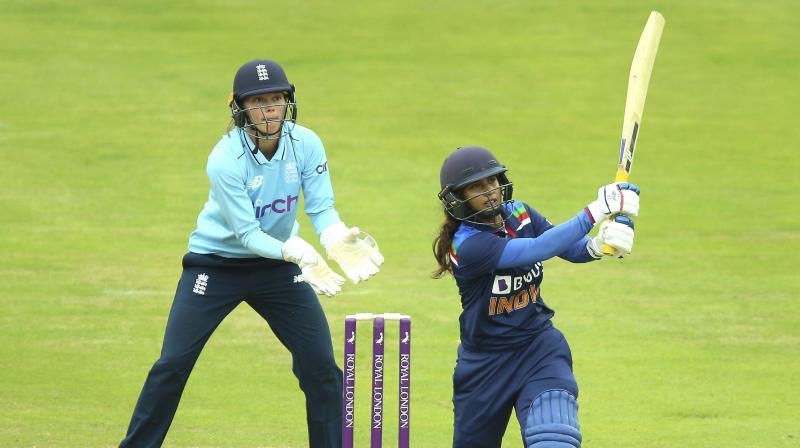 India's Mithali Raj reaches her half century during the ODI match against England in Bristol last Sunday. (Photo: AP)