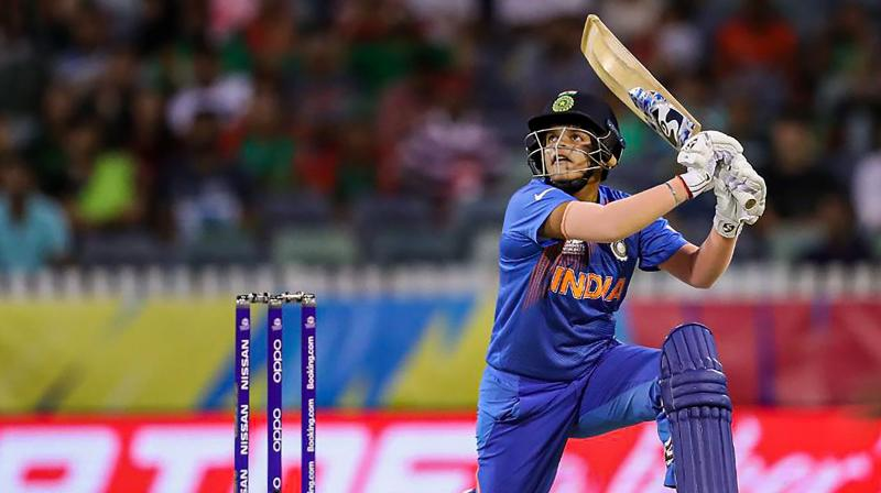 Indian Women Cricket team opener Shafali Verma in action during the ICC Women's T20 World Cup match against New Zealand, in Melbourne in 2020. (Photo: PTI)