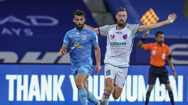 Mumbai City FC 's Hugo Boumous in action during their Indian Super League match in Goa in December 2020. (Photo: PTI)