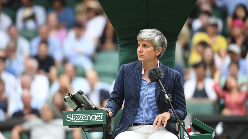 Marija Cicak. (Photo: Twitter/Wimbledon)