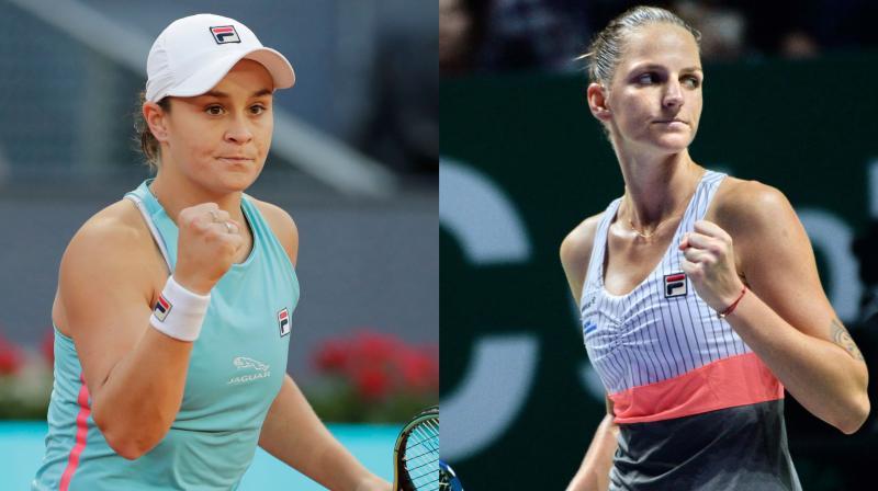 Ashleigh Barty (left) will play Karolina Pliskova in the Wimbledon Women's final. (Photo: AP)