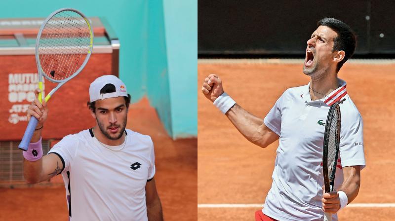 Novak Djokovic will face Matteo Berrettini in the Wimbledon final. (Photo: AFP)