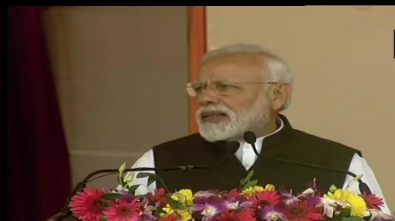 Modi also inaugurated a women engineering college building in Ramgarh through remote. (Photo: ANI)