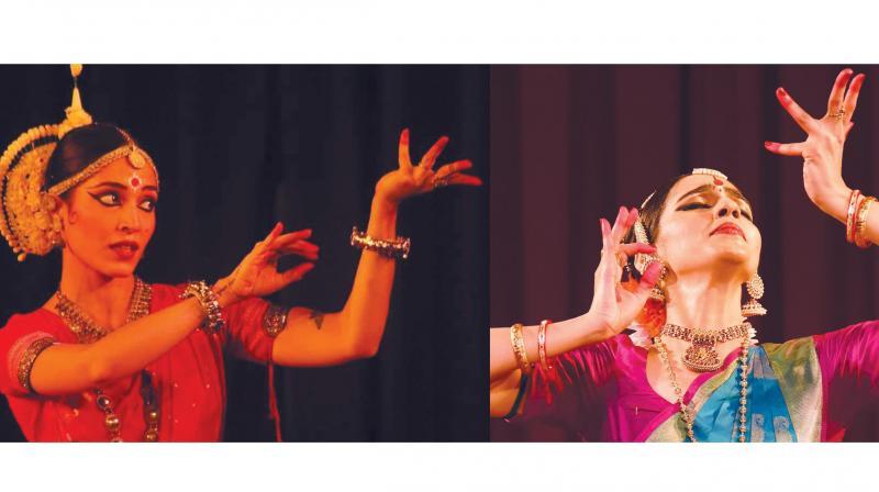 Artistes perform at Triveni Auditorium.
