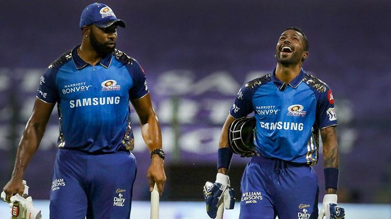 Kieron Pollard smashed an unbeaten 60 off 24 balls against RCB before producing an unbeaten 47 off 20 balls against KXIP. (Photo | PTI)
