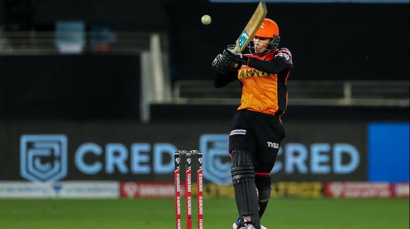 Had it not been for some sensible batting by youngsters Abhishek Sharma (in pic) (31, 24 balls) and Garg (51 not out, 26 balls), SRH would not have a competitive total on the board. (Photo | PTI)