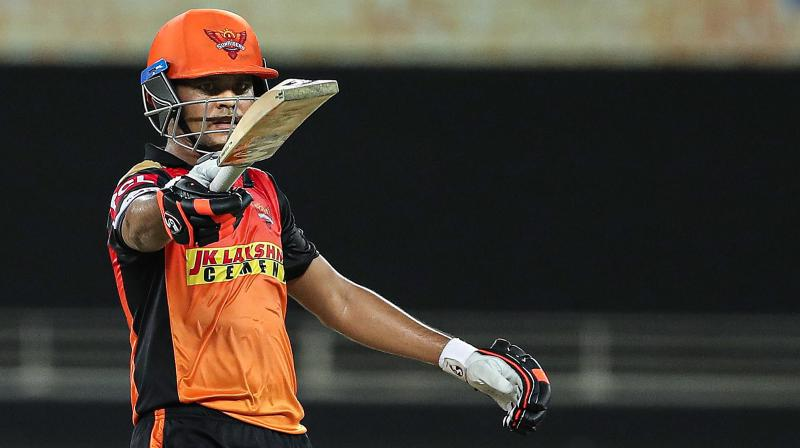 That Abhishek Sharma is talented is already known and the southpaw further enhanced his reputation with some confident and cracking shots. Priyam Garg (in pic) too found his touch as he spent time at the crease and went on to score his maiden IPL fifty. (Photo | PTI)