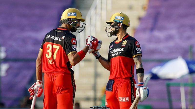 Twenty-year-old Padikkal's fluent 63 and Kohli's first half century this season carried Bangalore to 158-2 in 19.1 overs in a well-measured run-chase under hot and humid conditions. (Photo   PTI)