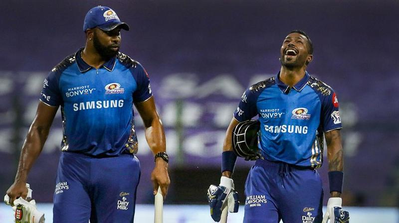 The swashbuckling duo of Hardika Pandya and Kieron Pollard scored 28 and 25 respectively. (Photo | PTI)