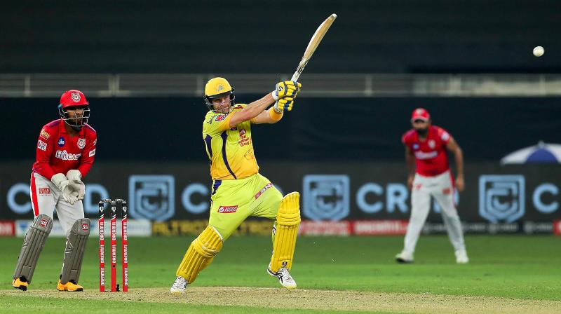 Watson (83 off 53 balls) hit his first half-century of the season and together with Du Plessis, who smashed 87 of 53 balls, led Chennai past Punjab's 178 for four. (Photo | PTI)
