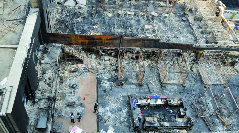 The fire gutted two pubs at Kamala Mills compound on Decemeber 29.